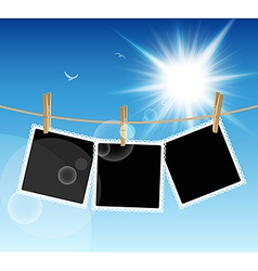 Hanging Pictures vector image vector image