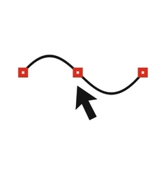 line and arrow icon flat style vector image