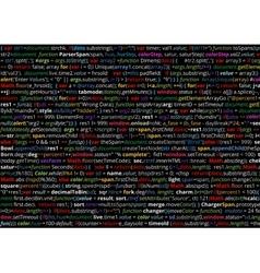 Source code screen vector image vector image