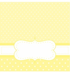 White dots on yellow background invitation vector image vector image