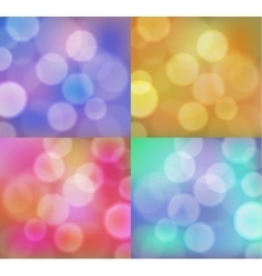 Abstract background with bokeh circles set vector image
