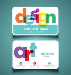 Business card for artist or designer vector image vector image