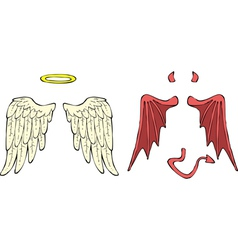 Cartoon wings vector image