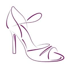 Elegant sketched woman s shoe vector image vector image