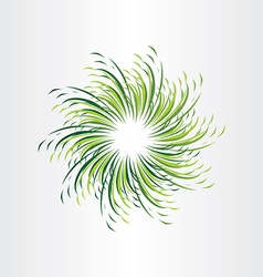 green grass circle abstract background vector image