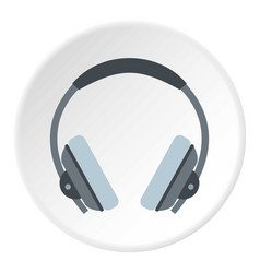 headphone icon circle vector image vector image