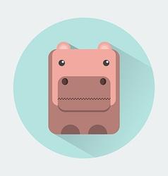 Hippo Baby Animal Icon vector image