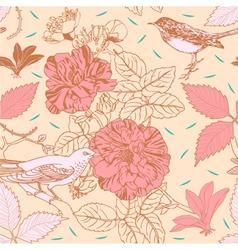 Vintage Floral Pattern Background vector image vector image
