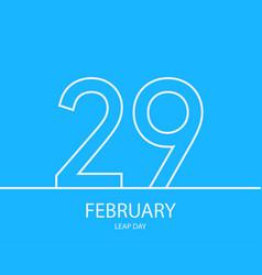 29 february outline background eps10 illu vector