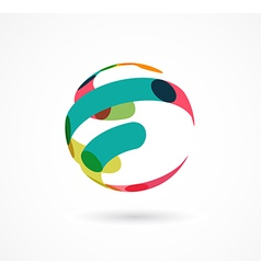 Abstract colorful globe business icon vector image