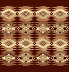 abstract geometric seamless pattern with aztec vector image