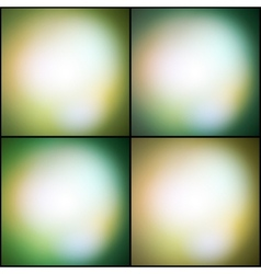 Abstract set of multicolored backgrounds defocused vector image
