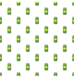 Aluminum cans for beer pattern cartoon style vector