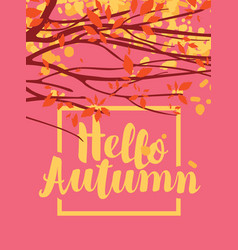 autumn banner with branches and autumn leaves vector image