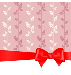 Background red bow vector