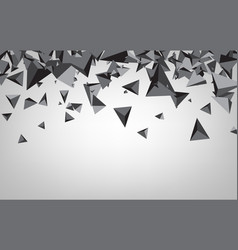 Background with gray 3d trigons vector