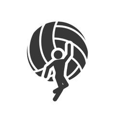 ball volleyball sport design vector image