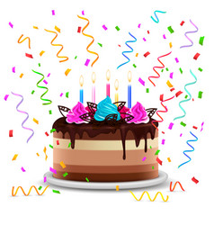 Birthday cake realistic design concept vector