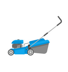 Blue lawnmower vector