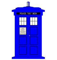 British police box vector