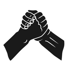 Brotherly handshake icon simple style vector