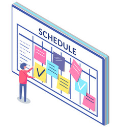 Business planning and scheduling concept employee vector