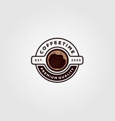 Coffee cup logo cafe shop design vector