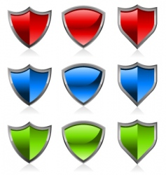 colorful shields vector image