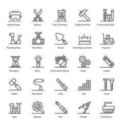compact construction equipment flat vector image