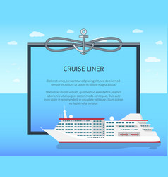 cruise liner colorful banner vector image