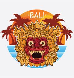 Design bali island logo vector
