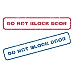 Do Not Block Door Rubber Stamps vector