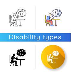 Dyslexia icon vector