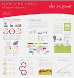 Economy and industry Electric power Industrial vector image