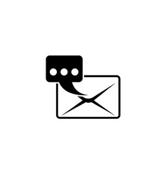 email notification quick message flat icon vector image