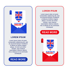 english banners envelope vector image