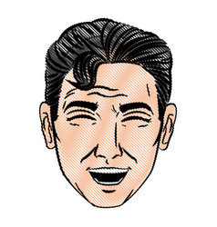 face man pop art style image vector image