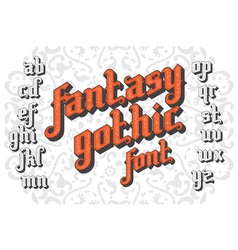 Fantasy gothic font set 01 vector