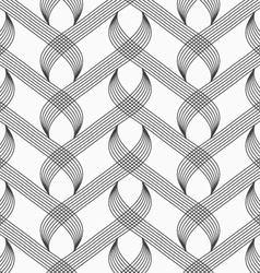 Flat gray with hatched overlapping integrals vector image