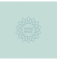 Flower Hand Made Trademark vector image