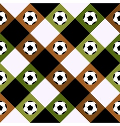 Football Ball Green Brown Chess Board Diamond vector