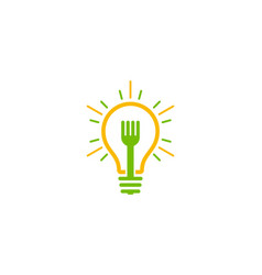 fork idea logo icon design vector image