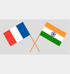 France and india french and indian flags vector