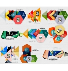 Geometric infographic banners vector