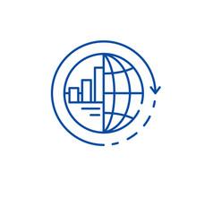 global integration line icon concept global vector image
