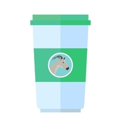 Goat Dairy Product Flat Style vector