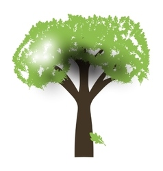Green Oak Silhouette of a tree vector