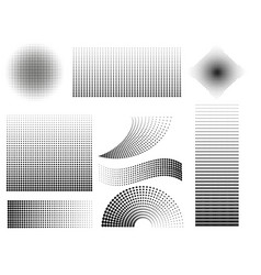 halftone style elements set collections vector image