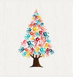 hand tree concept for people community help vector image