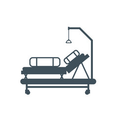 Hospital bed isolated medical bunk vector
